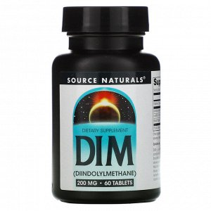 Source Naturals, DIM, 200 mg, 60 Tablets