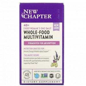 New Chapter, Мультивитамины Every Woman для женщин старше 40 лет, один прием в день, 48 вегетарианских таблеток