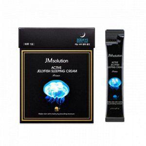 JMsolution Jellyfish Sleeping Cream Prime Ночная увлажняющая маска с экстрактом медузы 1шт (4 мл)