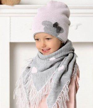 Комплект (шапка+платок) размер 50-52