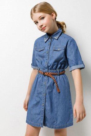 Платье джинсовое детское для девочек Sierra голубой