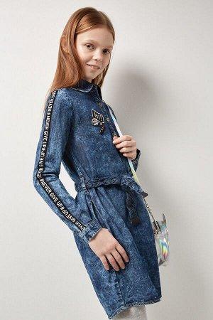 Платье джинсовое детское для девочек Irem синий