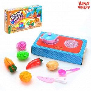 Игровой набор «Готовим вместе супы», с овощами для нарезки