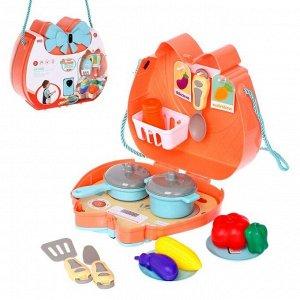 Набор посуды для пикника в сумочке «На природу» с продуктами