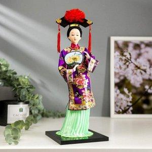 """Кукла коллекционная """"Китаянка в национальном платье с опахалом"""" 32х12,5х12,5 см"""