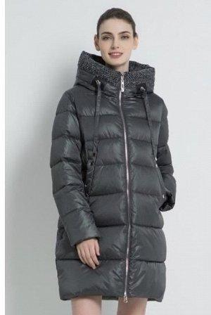 Куртка зимняя серая + ткань