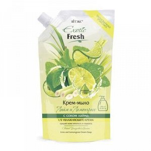 Biтэкс Exotic Fresh Juise Крем-мыло Лайм и Лемонграсс 750мл дой-пак