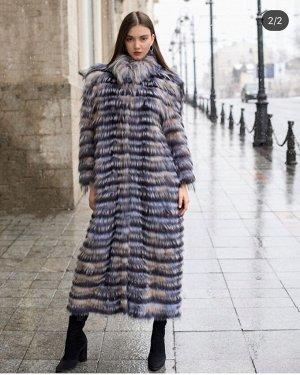 Пальто из лисы росшив