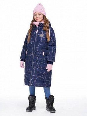 Пальто 6з2620 ( темно-синий, пудра, графит)