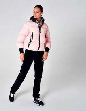 Куртка утепленная женская (розовый/черный)