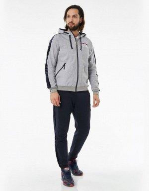 Куртка тренировочная мужская (серый/синий)