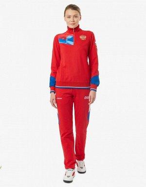 Костюм тренировочный женский (красный/голубой)
