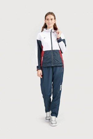 Куртка ветрозащитная женская (белый/синий)