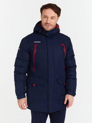 Куртка Эко Пух мужская (синий/бордовый)