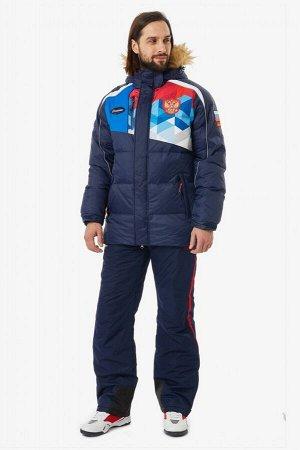 Куртка пуховая мужская (синий/голубой)
