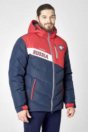 Куртка пуховая мужская (синий/красный)