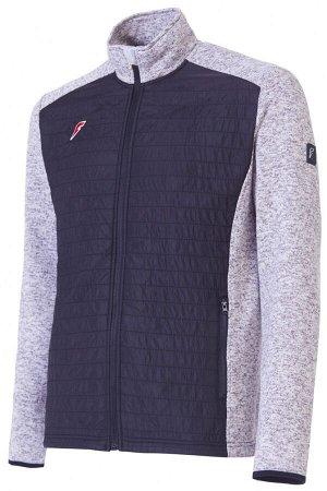 Куртка флисовая мужская (серый/черный)