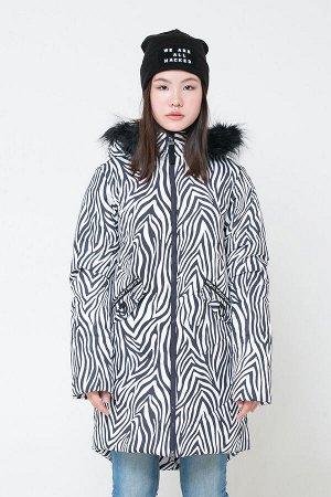 Пальто(Осень-Зима)+girls (темно-серый, зебра)