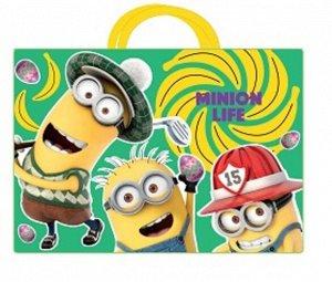 """Папка-сумка с ручками """"Миньоны"""" А4 ,текстильная"""