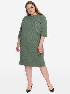 Платье с карманами из джерси в мелкий