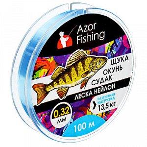 """AZOR FISHING Леска, нейлон, """"Окунь,ывная нагрузка 5,0 кг"""