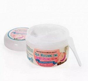 Осветляющий крем для лица с эффектом пилинга кожи Milky Piggy Real Whitening Time Secret Pilling Cream