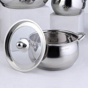 Набор посуды «Танто», 4 предмета: 2 л, 3,8 л, 6,6 л , а/п сковорода 2,9 л, индукция