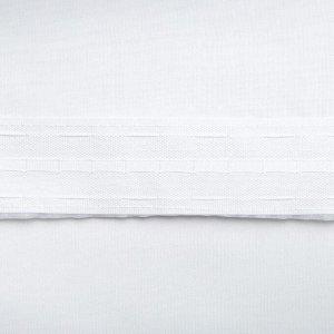 Штора вуаль однотонная 290х260 см. белый. шторная лента. пэ 100%
