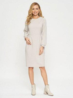 Платье Состав ткани :Вискоза 60%, 38% ПЭ, 2% Эластан. Рост фотомоделей: 178 см. Платье-футляр в мелкую розовато-серую клеточку. Юбка с небольшими защипами на талии. Рукава с объемом внизу собраны на м