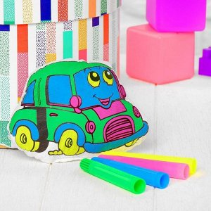 Игрушка-раскраска «Машинка» (без маркеров) в пакете