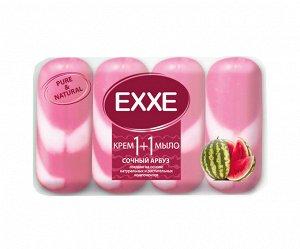 """Крем+мыло EXXE 1+1 """"Сочный арбуз"""" 4шт*90г  (РОЗОВОЕ) полосатое ЭКОПАК"""