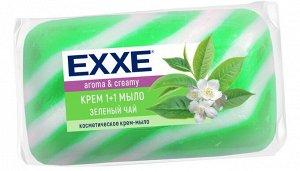 """Крем+мыло EXXE 1+1 """"Зеленый чай"""" 1шт*80г  (ЗЕЛЕНОЕ) полосатое одиночное"""