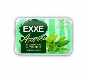 """Туалетное крем-мыло EXXE AROMA глицериновое """"Зеленый чай & глицерин"""" 1шт*80г  (ЗЕЛЕНОЕ) полос/одиноч"""