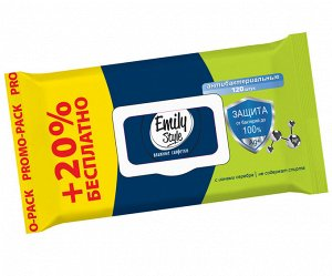 ПРОМО Emily Style Антибактериальные 120 шт., упаковка с крышкой (+20% БЕСПЛАТНО)