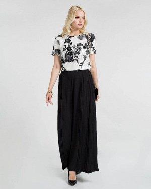 Блузка жен. (002122)бело-черный