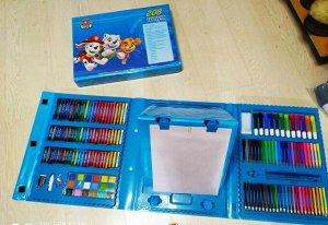 Набор для рисования с мольбертом, голубой