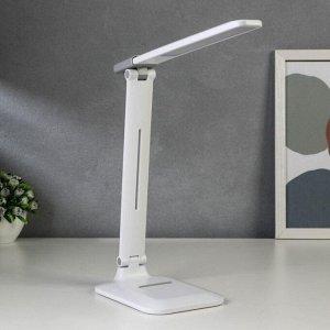 Лампа настольная сенсорная 16111/1 LED 4Вт USB АКБ 3000/6000К белый 12х29х31,5 см