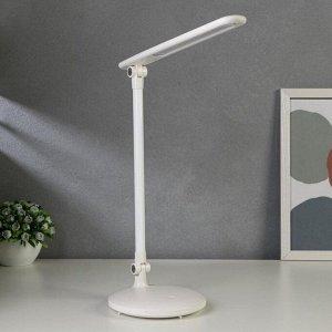 Лампа настольная сенсорная 16110/1WT LED 5Вт USB АКБ 3000/6000К белый 15х33,5х34 см