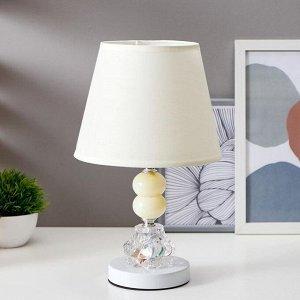 """Лампа настольная с подсветкой """"Лакрима"""" 1х40Вт Е27 белый 21х21х36 см."""