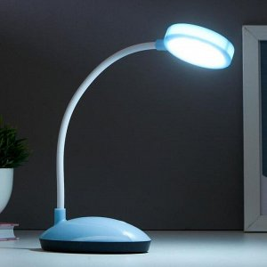 Лампа настольная 16105/1 LED 2Вт USB АКБ 3 режима синий 6.5х11х32.5 см