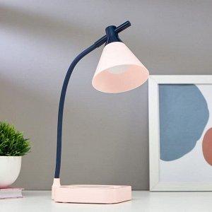 Лампа настольная 1667/1PK LED 3Вт 3000-6000К USB АКБ диммер розово-синий 11,3х13,5х37,5 см
