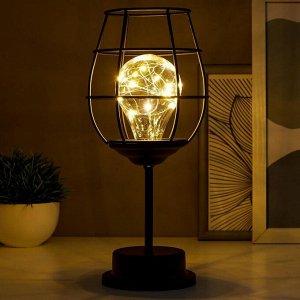 Ночник 16130/1 LED от батареек 3хАА черный 12х12х27.5 см