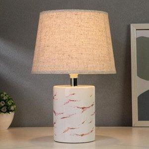 Лампа настольная 21166/1WT E14 40Вт бело-розовый 18х18х32.5 см