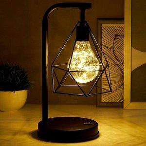 Ночник 16129/1 LED от батареек 3хАА черный 13.5х16х30 см