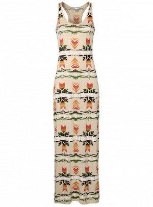 Платье с этническим принтом