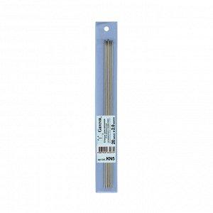 Спицы для вязания 5-ти комплектные металл 20см d2,0