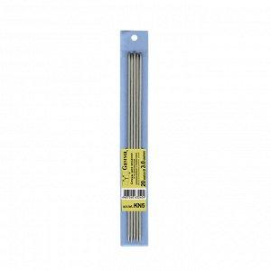 Спицы для вязания 5-ти комплектные металл 20см d3,0