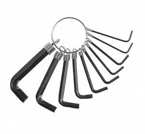Набор ключей шестигранных на кольце TUNDRA, 1.5 - 10 мм, 10 шт.
