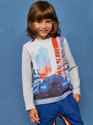 "Фуфайка (футболка) модель ""лонгслив"" д/мал Juno"