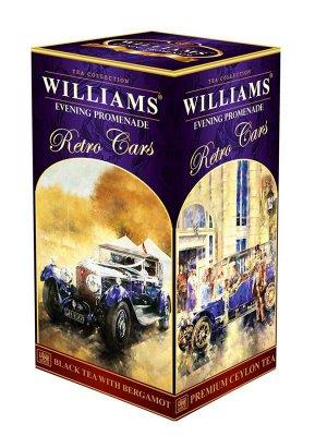 Чай WILLIAMS Retro Cars Вечерняя Прогулка чёрный с берамотом, 250г